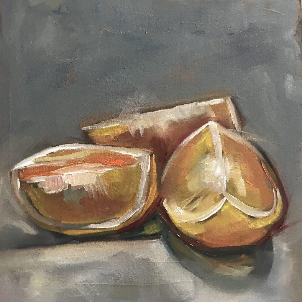 Orangenstückchen